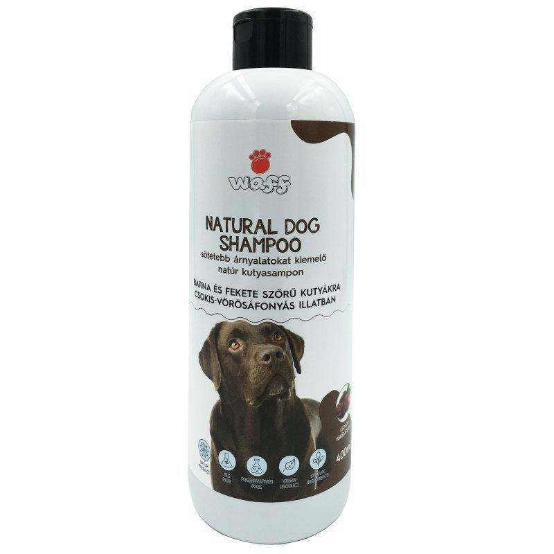 WAFF – Sötétebb árnyalatokat kiemelő natúr kutyasampon – csokis- vörösáfonyás illatban