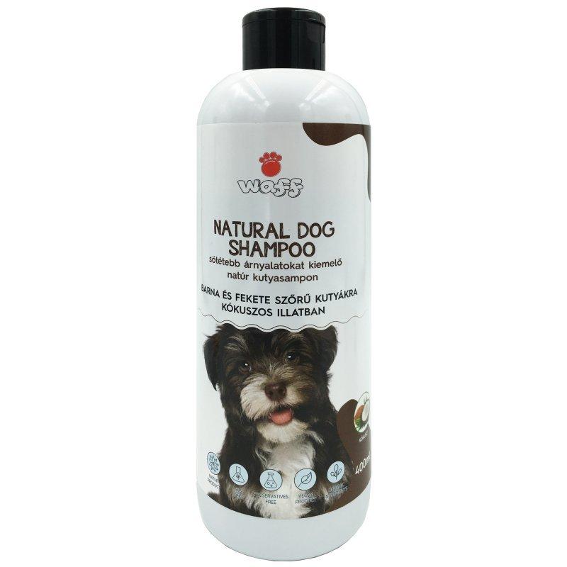 WAFF – Sötétebb árnyalatokat kiemelő natúr kutyasampon -kókuszos illatban