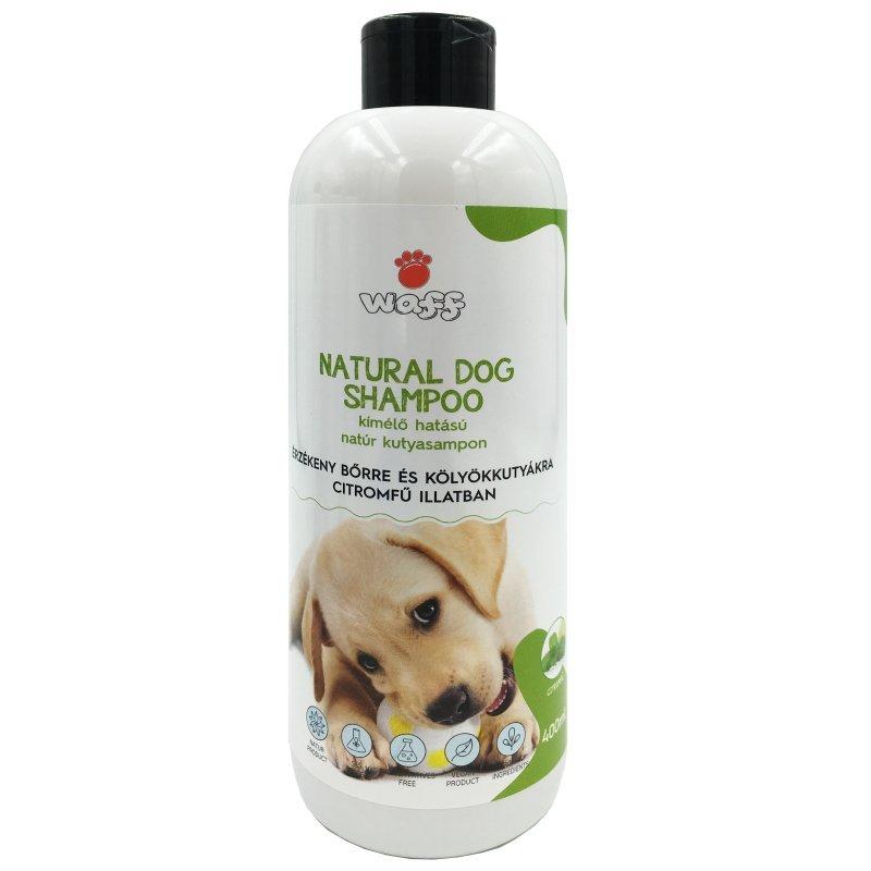 WAFF – Kímélő hatású natúr kutyasampon, érzékeny bőrre és kölyökkutyákra – citromfű illatban