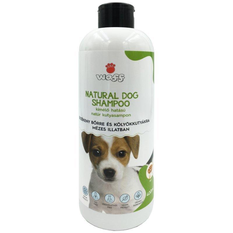 WAFF – Kímélő hatású natúr kutyasampon, érzékeny bőrre és kölyökkutyákra- mézes illatban