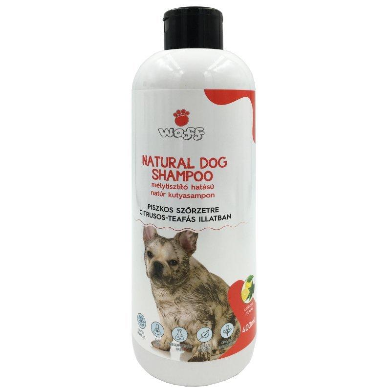 WAFF – Mélytisztító hatású natúr kutyasampon, piszkos szőrzetre –  teafa és citrus olajjal