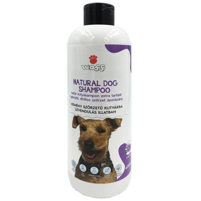 WAFF – Natúr kutyasampon extra tartást igénylő, drótos szőrzet ápolására – levendulás illatban