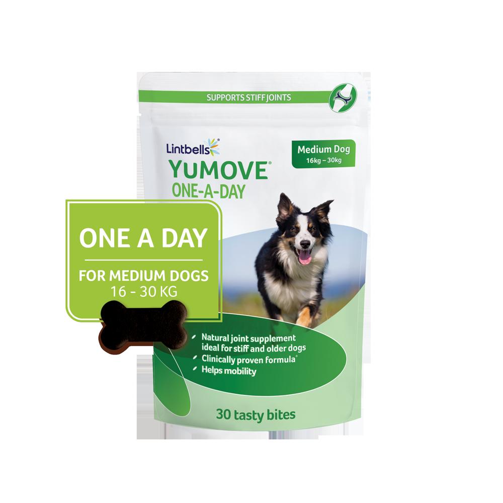 YuMOVE Dog falatka közepes testű kutyáknak – ízületvédelem 16-30 kg-ig