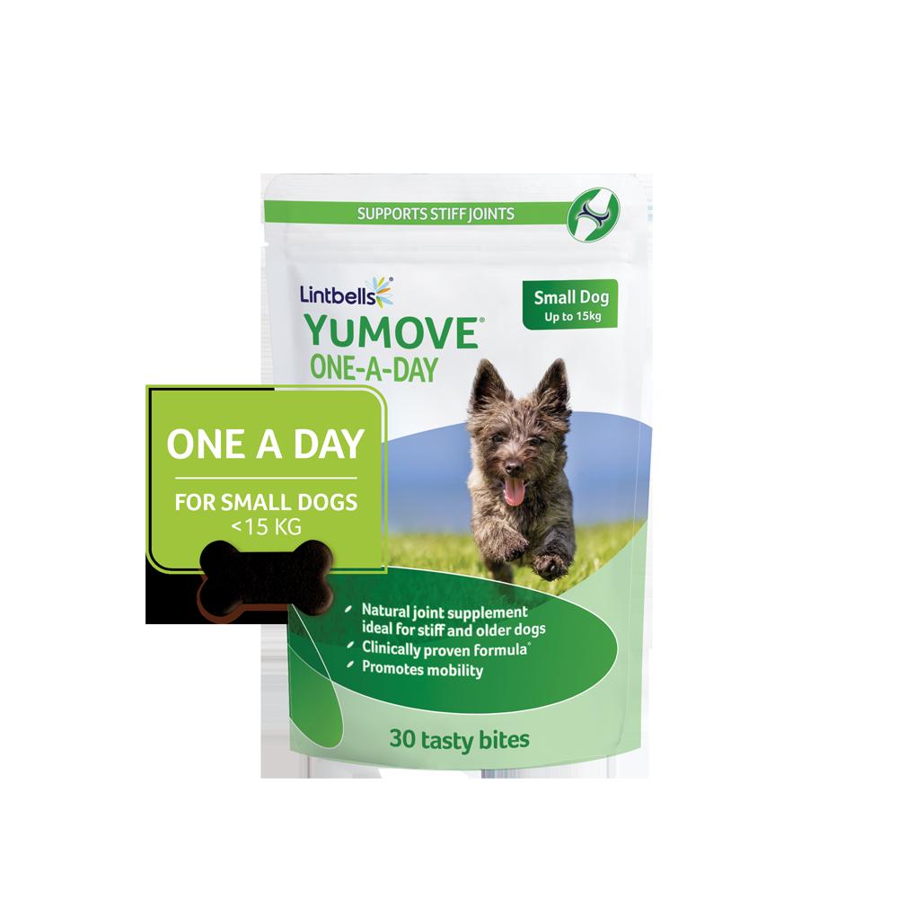 YuMOVE Dog falatkák  – 30 db – kistestű kutyáknak – Ízületvédelem 15kg-ig.