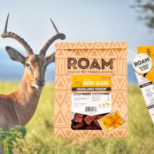 ROAM – 100% antilop jutalomfalat allergiás kutyáknak – fagyasztva szárított
