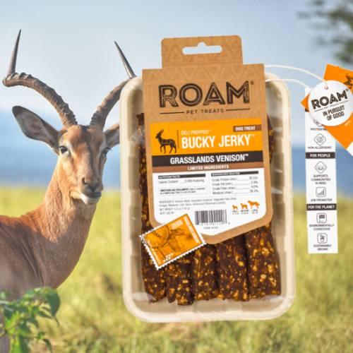 ROAM – Dél-Afrikai szabad tartású antilop húscsíkok, jutalomfalat allergiás kutyáknak, füstölt
