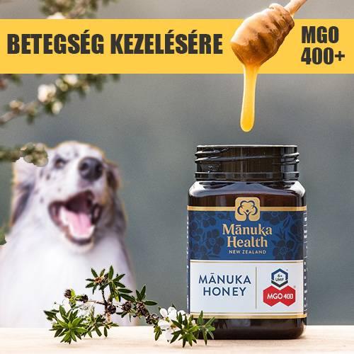 Manuka méz – 250 ml 400+ MGO – kutyáknak, cicáknak