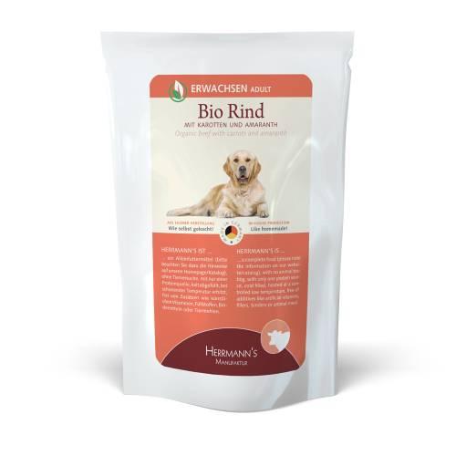 Bio marhahús menü kutyáknak – bio sárgarépa, bio amaránt 150 gr