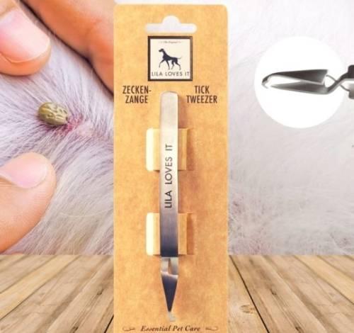 Kullancseltávolító csipesz kutyáknak és macskáknak, rozsdamentes acél, Lila Loves It