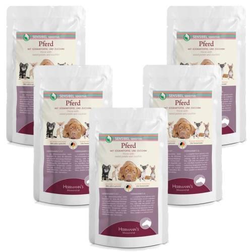 Lóhús menü érzékeny emésztésű kutyáknak – bio édesburgonya, bio cukkini 150 gr