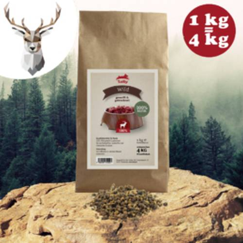 100% szárított színhús monoprotein – vadhús 200gr/1kg, Leiky